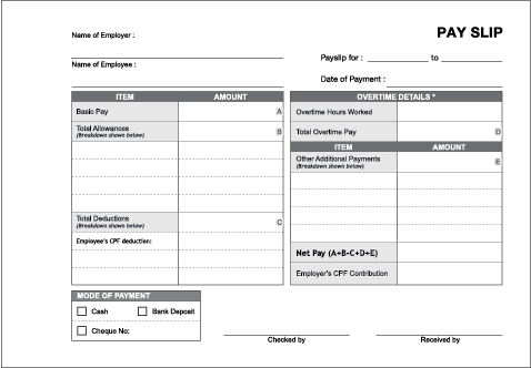 Itemised Pay Slip Required By Mom. Pay Slip Printing. Fabers ...